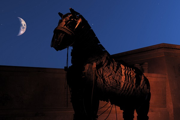 Ever seen a Trojan horse made of US dollars?
